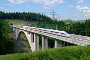 VRT Praha - Drážďany, vizualizace. Pramen: Správa železnic