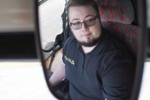 Martin Blecha, řidič libereckých tramvají a student TUL. Foto: Adam Pluhař