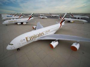 Odstavená letadla v Dubaji. Foto: Emirates