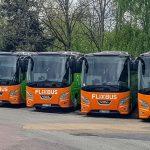 Odstavené autobusy v barvách FlixBusu v Liberci. Foto: Zdopravy.cz / Jan Sůra