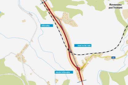 Odstranění přejezdu ve Ktové a nová přeložka s podjezdem na silnici I/35. Foto: ŘSD