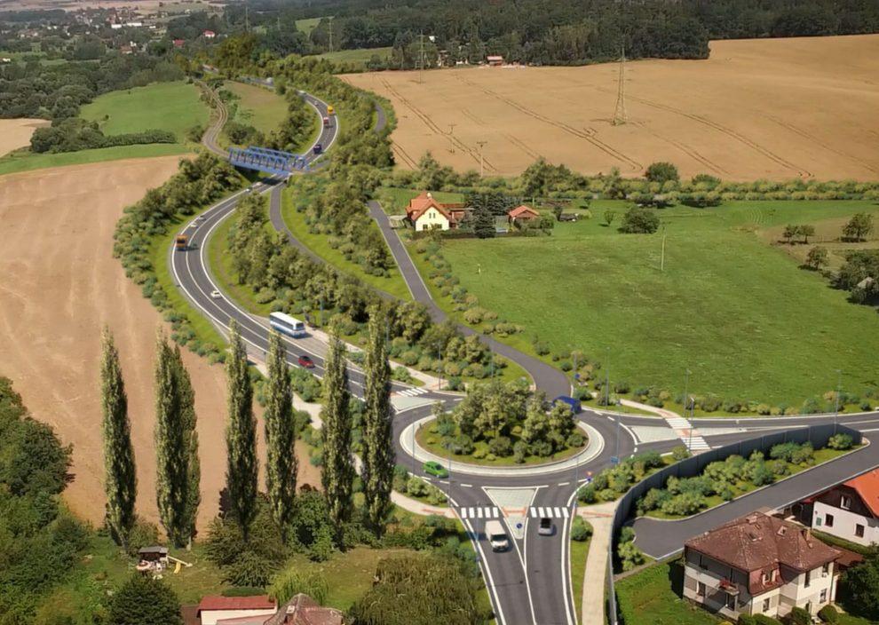 Vizualizace budoucího řešení silnice I/35 u Ktové. Foto: Valbek