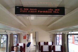 Informační panel pro cestující z produkce Tramex Rail. Foto: Tramex Rail