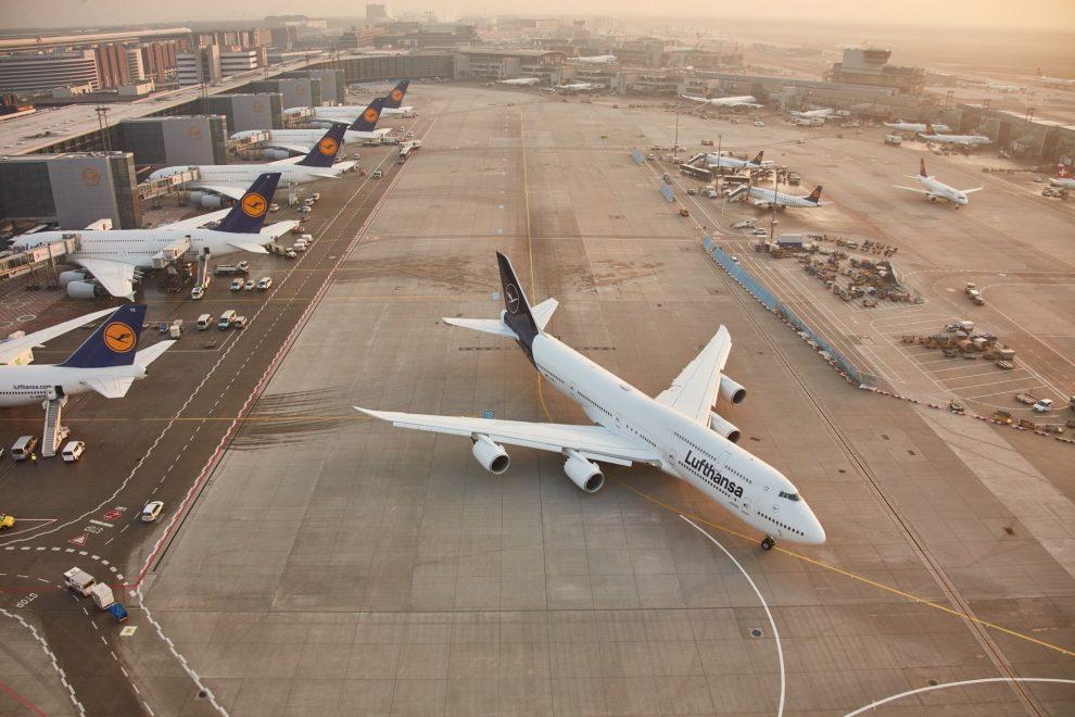 Dálková letadla Lufthansy ve Frankfurtu. Foto: Lufthansa
