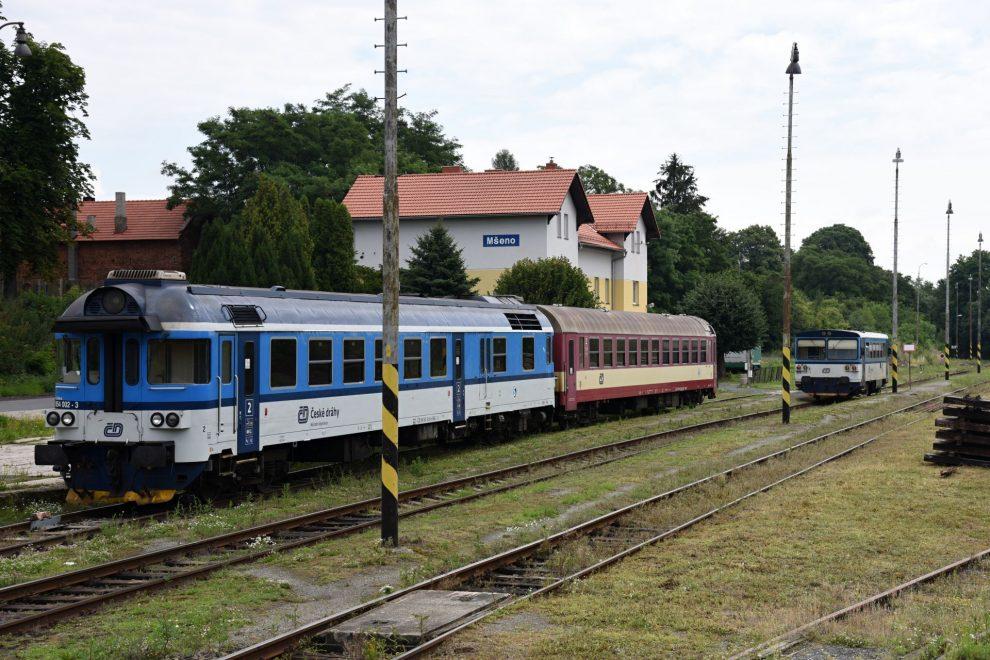 Železniční stanice Mšeno. Foto: Michal Chrást