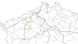 Mapa tratí, kde se začne testovat Systém jednotného tarifu. Foto: Cendis