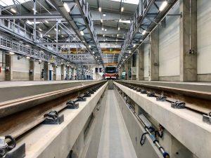 Nová opravárenská hala pro tramvaje DPP. Foto: Daniel Šabík / DPPv