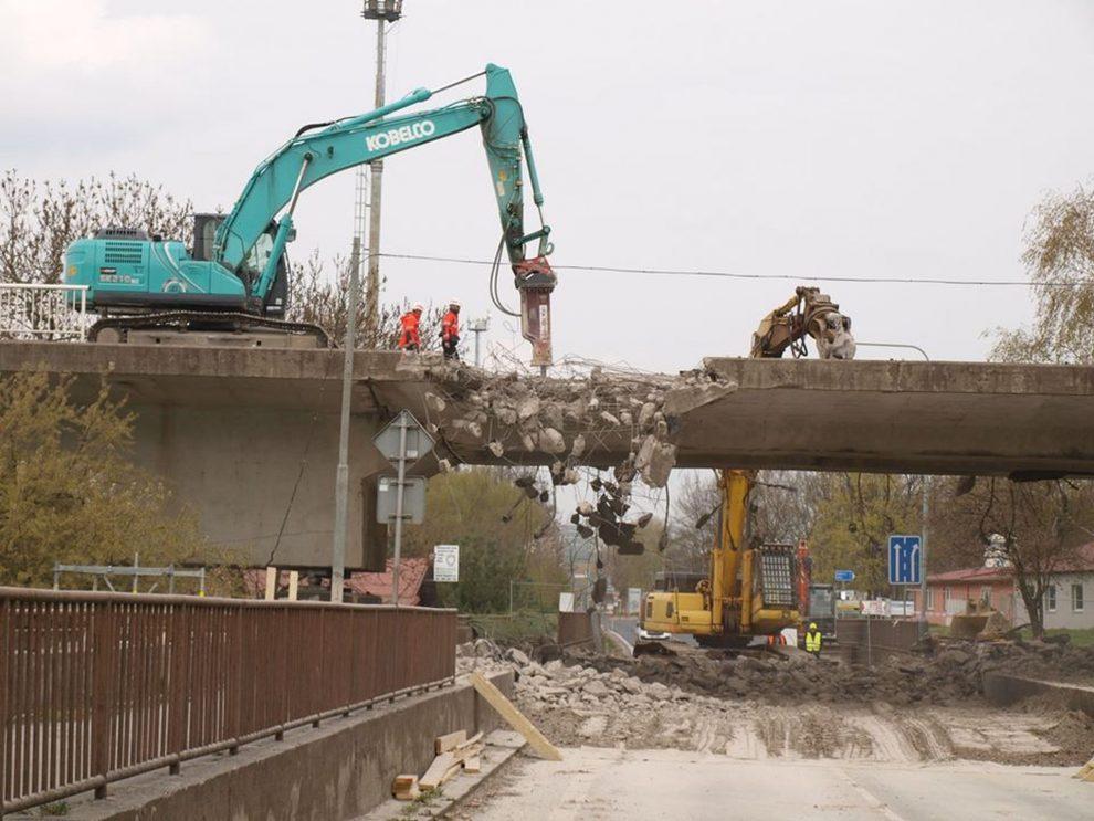 Oprava mostu ve Štětí. Foto: Městský úřad Štětí