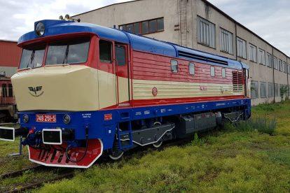 Lokomotiva 749.251. Foto: Východočeská dopravní