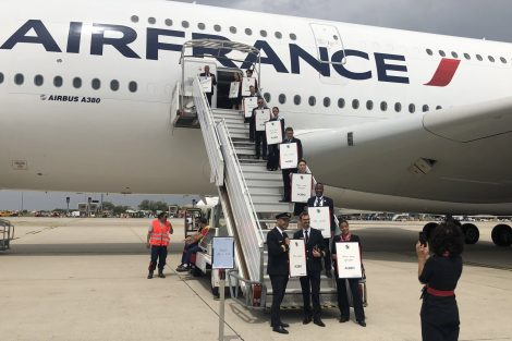 Rozlučka Air France s letounem A380. Foto: Air France