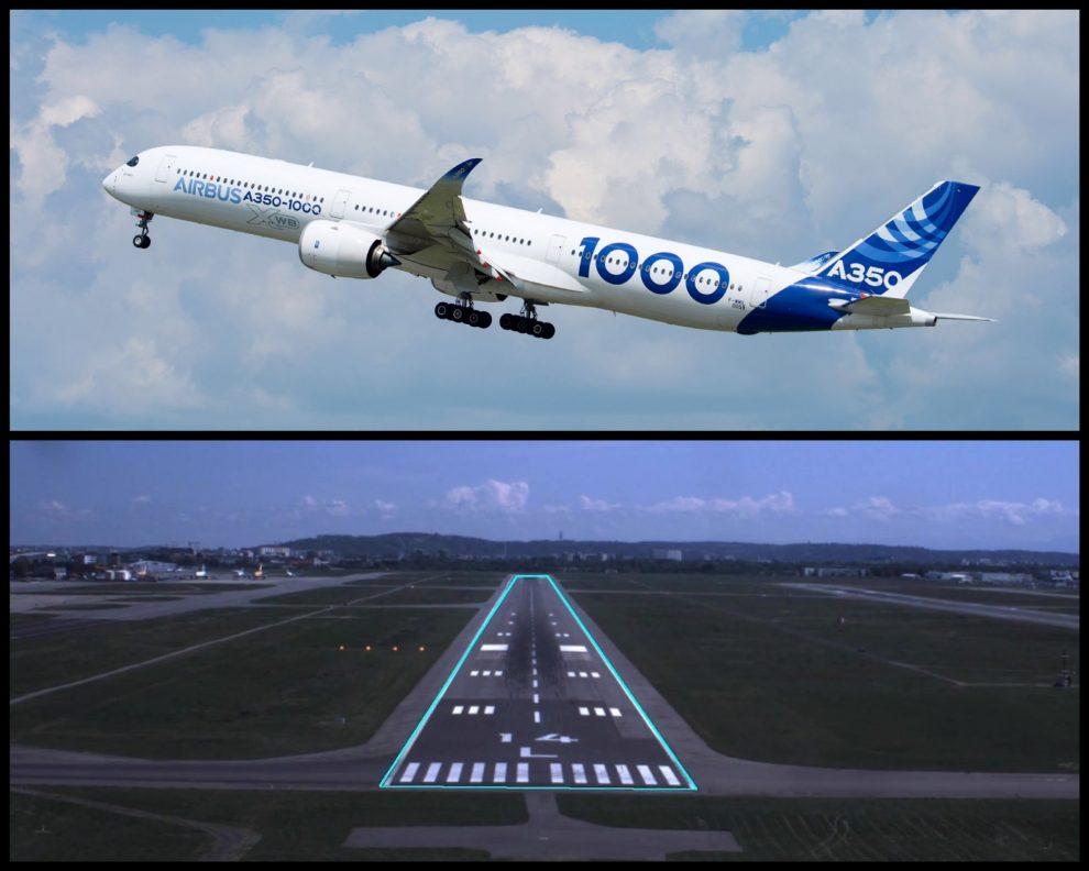 Pro testování autonomních technologií využil Airbus model A350-1000. Foto: Airbus
