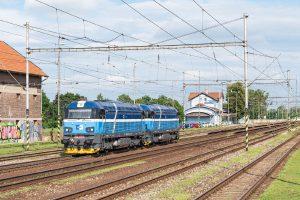 Lokomotivy 753.6 ve slovenské stanici Šaľa. Foto: ČD Cargo