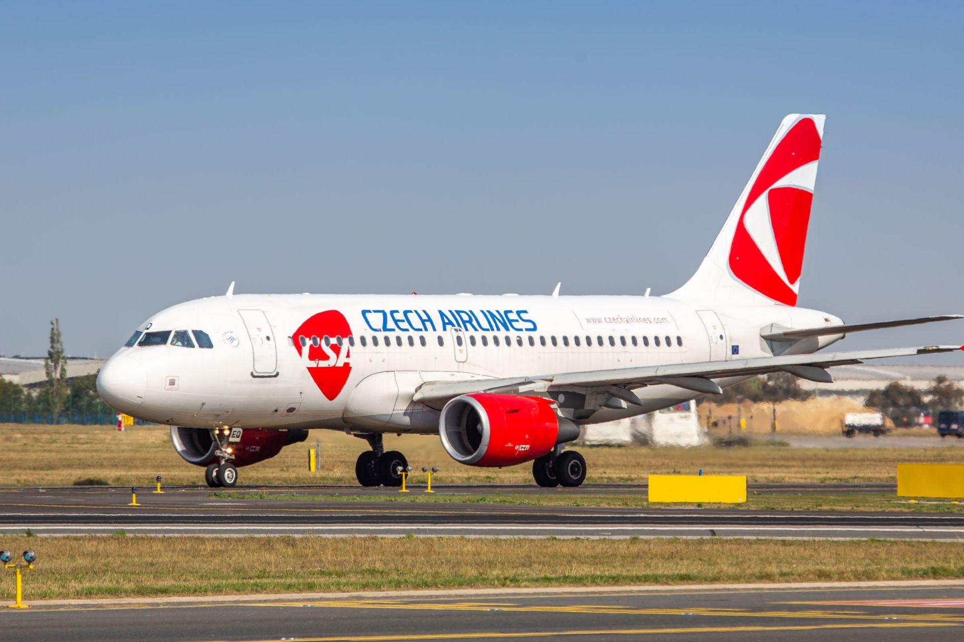 Airbus A319 OK-REQ Českých aerolinií. Foto: Rosťa Kopecký / Flyrosta.com