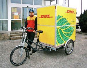 Nákladní kola využívá už několik let například DHL. Pramen: DHL Express