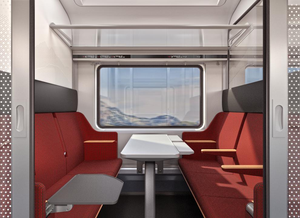 Interiér nových Railjetů pro ÖBB. Pramen: ÖBB/Siemens