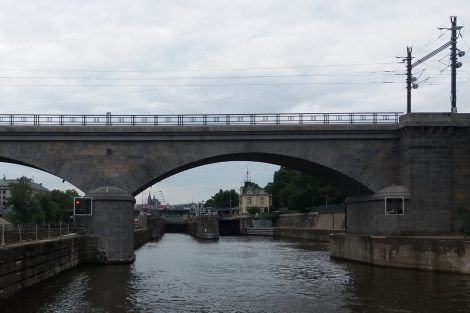 Negrelliho viadukt a plavební komora Štvanice. Autor: Zdopravy.cz/Jan Šindelář