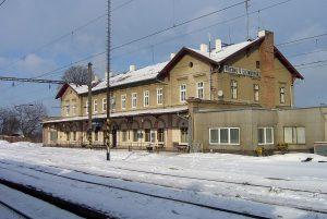 Nádraží Březno u Chomutova. Pramen: Wikipedia, Petr Kinšt