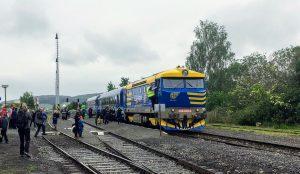 První den provozu vlaků v Chotiměři po 7 letech. Foto: Jan Beránek
