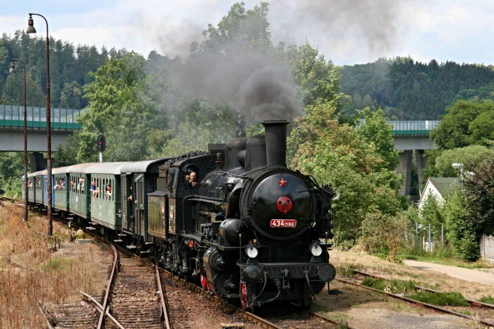 Parní lokomotiva 434.2186 zvaná Čtyřkolák. Autor: A. Šmejkal