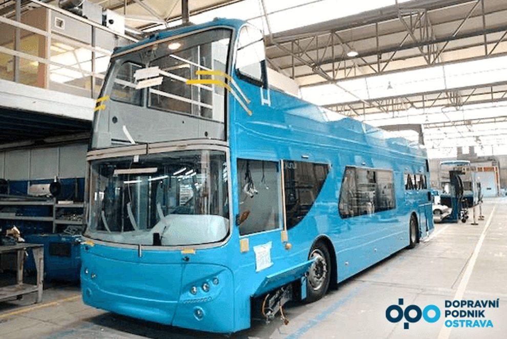 Výroba nového dvoupodlažního autobusu pro Ostravu. Foto: DPO