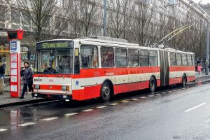 Trolejbus Škoda 15Tr v Ústí nad Labem. Foto: Jan Sůra / Zdopravy.cz