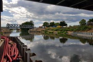 Nový železniční most v Lužci nad Vltavou. Foto: Jan Sůra / Zdopravy.cz