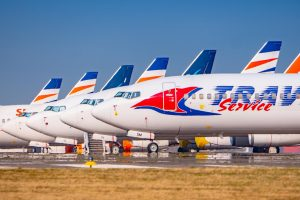 Odstavená letadla společnosti Smartwings v Praze. Foto: Rosťa Kopecký / Flyrosta.com