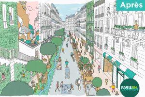Představa starostky Paříže Anne Hidalgové o podobě ulic ve městě v příštích letech