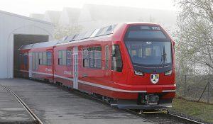 Elektrická jednotka Capricorn pro Rhätische Bahn. Foto: Stadler