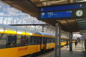 Poprvé na hlavním nádraží v Praze vlak s cílovou stanicí Rijeka. Foto: Jan Sůra / Zdopravy.cz