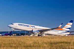 Boeing 737-800 společnosti Smartwings odlétá z Prahy. Foto: Letiště Praha