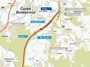 Budoucí D3 a Jižní tangenta u Českých Budějovic. Pramen: ŘSD