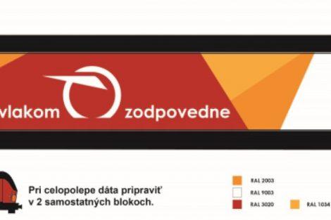 Návrh polepu od Lukáše Vyskoče, který vyhrál cenu veřejnosti. Foto: ZSSK