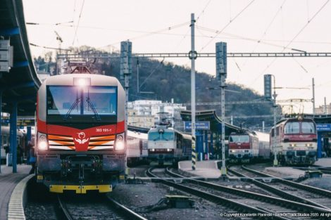 Vítězný návrh polepu lokomotivy Siemens Vectron. Foto: Konstantin Planinski