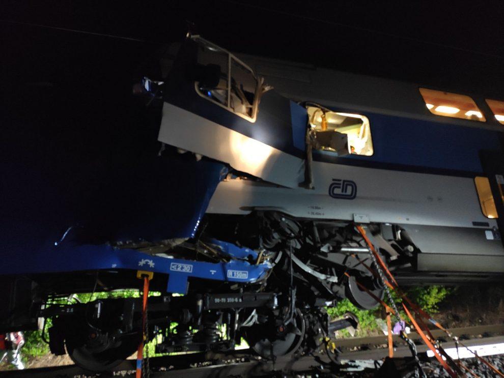 Nehoda u Českého Brodu. Foto: Drážní inspekce
