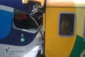 Srážka vlaků u Perninku. Foto: Drážní inspekce