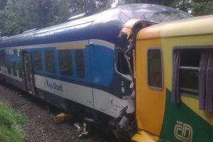Srážka vlaků u Perninku. Foto: Drážní inspekce Foto: Drážní inspekce