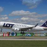 Embraer E170 společnosti LOT Polish Airlines v Praze. Foto: Letiště Praha