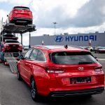 Odvoz vyrobených automobilů z Nošovic. Foto: Hyundai Motor Manufacturing Czech