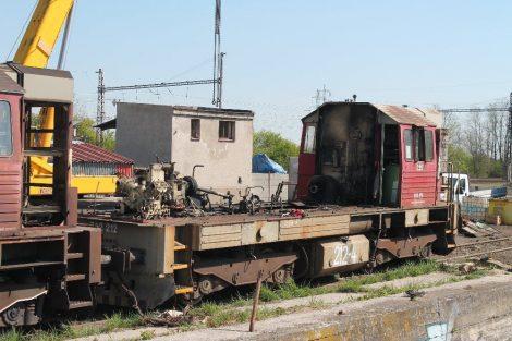 Rozebírání lokomotivy 742 ČD Cargo, depo Kutná Hora. Autor: Václav Šafář