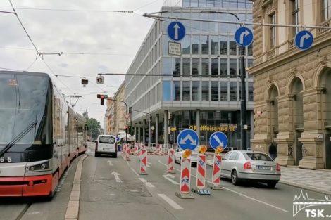 Úpravy ulic, Karlovo náměstí, Praha. Pramen: TSK
