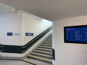 Podchod zmodernizované stanice Letohrad. Pramen: Správa železnic