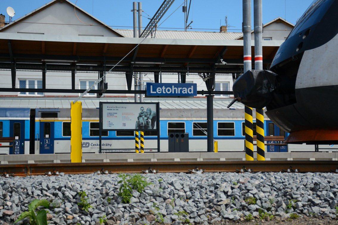 Stanice Letohrad prošla modernizací. Pramen: Správa železnic