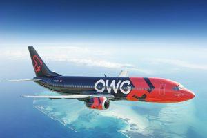 Boeing 737-400 v barvách nové společnosti OWG. Foto: Nolinor Aviation