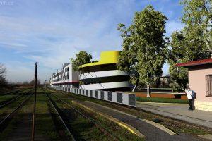 Vizualizace parkovacího domu v Brandýse nad Labem