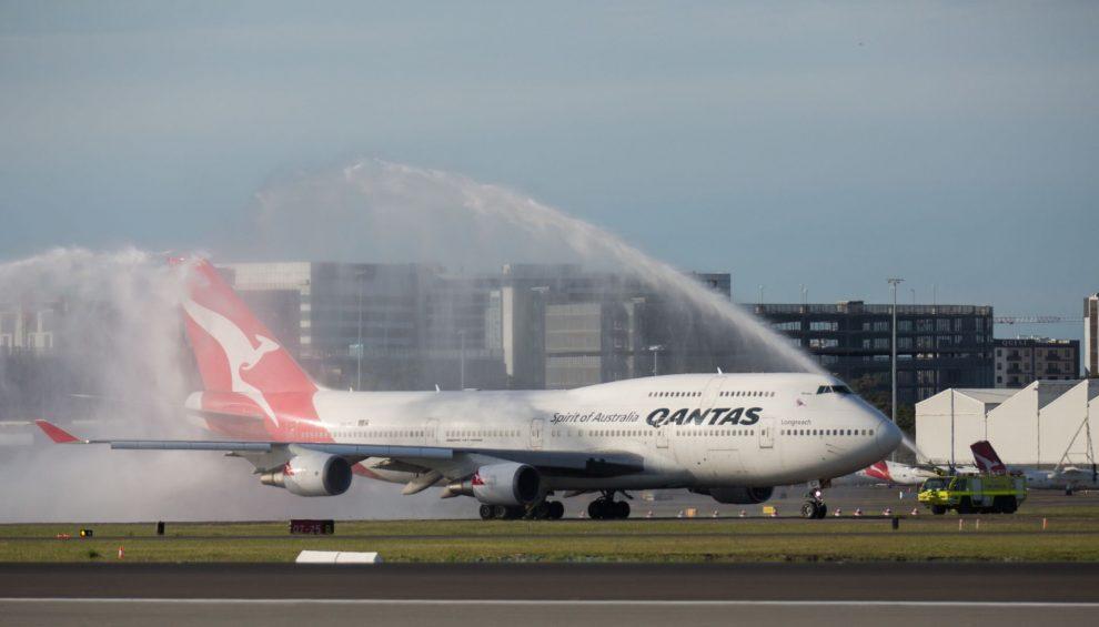 Poslední rozlučka s Boeingem 747 v Sydney. Foto: Qantas