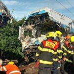 Roztržení souprav po nehodě, Český Brod. Pramen: Správa železnic