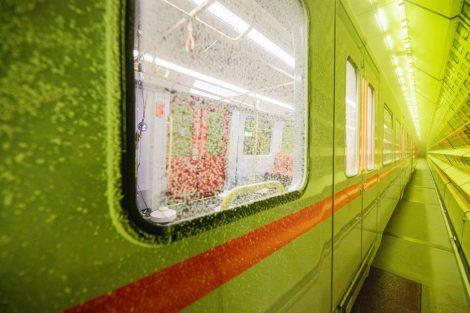 Nový vůz pro vídeňské metro X-Wagen v klimatickém tunelu. Autor: Severin Wurnig