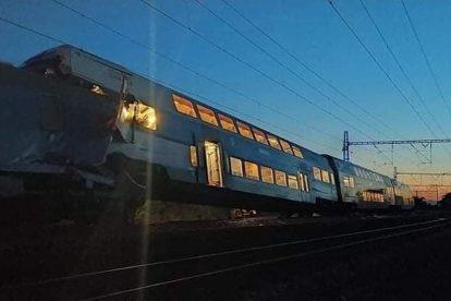 Nehoda u Českého Brodu. Foto kolující na FB, autor neznámý