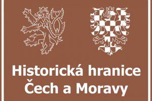 Návrh nové značky, která informuje o průjezdu historickou hranicí Čech a Moravy. Foto: FB Martina Netolického